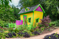 Cute little House. A little house in the storybook gardens Stock Images