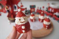 Cute Little Ichigo Strawberry and Cream Santa Claus Royalty Free Stock Image