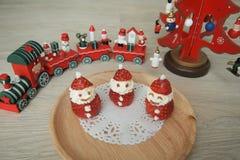 Cute Little Ichigo Strawberry and Cream Santa Claus Stock Images