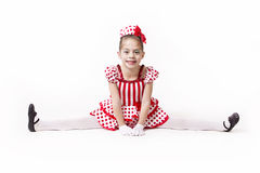 Cute Little Jazz Dancer Girl Stock Photo