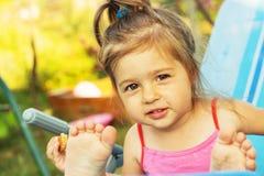 Cute little kid having fun at summer Royalty Free Stock Photo