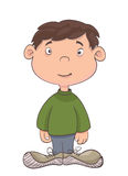 Cute little kid on white. vector Royalty Free Stock Image