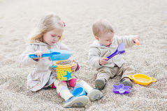 Cute little kids playing Stock Photography