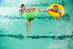 Cute little kids in the swimming pool Royalty Free Stock Images