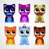Cute little kittens. A set of cute little kittens royalty free illustration