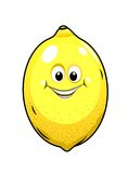 Cute little lemon with a happy grin Royalty Free Stock Image