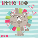 Cute little leo vector illustration Royalty Free Stock Photography