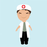Cute little male doctor Royalty Free Stock Image