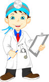 Cute little male doctor Stock Photography
