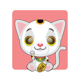 Cute little manekineko illustration Royalty Free Stock Images