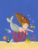 Cute Little Mermaid Royalty Free Stock Photo