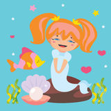 Cute Little Mermaid Stock Photo