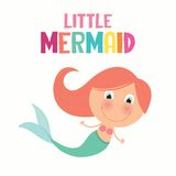 Cute little mermaid Stock Image