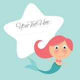 Cute little mermaid Royalty Free Stock Photography