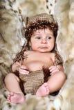 Cute little Newborn Baby boy Royalty Free Stock Photos