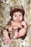 Cute little Newborn Baby boy Royalty Free Stock Photo