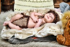 Cute little Newborn Baby boy Royalty Free Stock Images