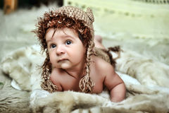 Cute little Newborn Baby boy Royalty Free Stock Photos