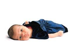 Cute Little Newborn Baby Girl Stock Images