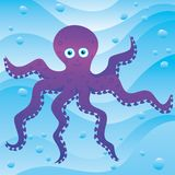 Cute little octopus. In the sea Stock Photo