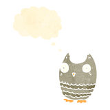 cute little owl retro cartoon Royalty Free Stock Images