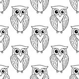 Cute little owl seamless pattern Royalty Free Stock Photography