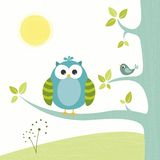 Cute little owl Royalty Free Stock Images