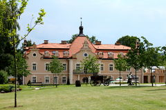 Cute little palace. With the garden in central Bohemia Stock Photo
