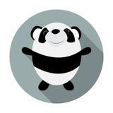 Cute Little Panda Flat Icon Royalty Free Stock Image