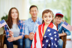 Cute little patriot Stock Photo