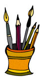 Cute little pencil holder Stock Images