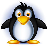 Cute little penguin cartoon Stock Image