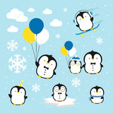 Cute little penguins Royalty Free Stock Photography