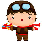 Cute Little Pilot Stock Images