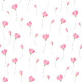 Cute little pink flowers seamless pattern background.  Stock Photography