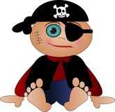 Cute little pirate Stock Image