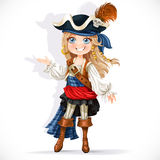 Cute little pirate girl Royalty Free Stock Photography