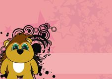 Cute little porcupine cartoon background. In vector format very easy to edit Royalty Free Stock Images