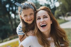 Free Cute Little Preschool Girl Without Teeth Smiling Broadly Royalty Free Stock Photography - 122018267