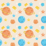 Cute little prince seamless pattern Royalty Free Stock Image