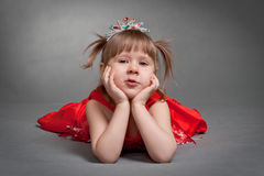 Cute little princess Stock Images