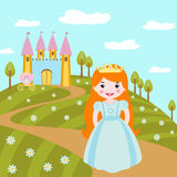 Cute little princess Royalty Free Stock Photography