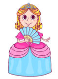 Cute little princess with a diadem Stock Photos