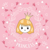 Cute little princess. Royalty Free Stock Images
