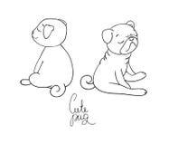 Cute little pug dog. A pet. Royalty Free Stock Photos