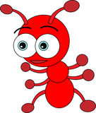 Cute Little Red Ant Royalty Free Stock Image