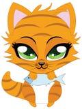 Cute little red kitten Stock Photography