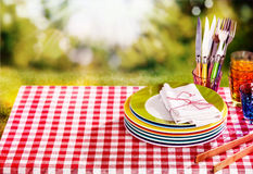 Cute little red and white picnic arrangement Stock Photography