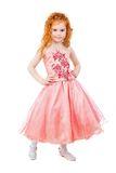 Cute little redhead girl Stock Images