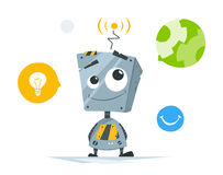 Cute little robot Royalty Free Stock Photography